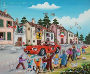 Arrivée de la Ferrari Rouge  250 GTI