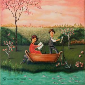 FRAGA FRENOT Christine-peintres au bord de l'eau
